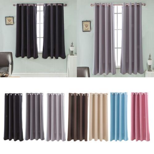 1 Panel Grommet Top Blackout Curtains Window Treatment Therm