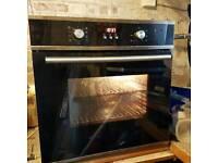 Unbranded black 60 cm fan oven