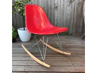 Genuine 60s Herman miller Eames shell on a reproduction rocking chair base DSR