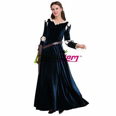 Merida Cosplay Brave Merida Dress Cosplay Costume Adult Halloween Party Costume - Adult Merida Brave Costume