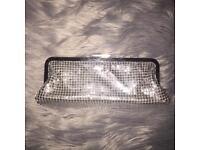Silver clutch bag/purse