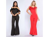 Brand new elegant jumpsuits, black size S and red size L.