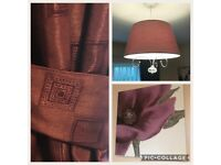 Purple bundle : curtains, curtain rail, canvas, ceiling lightshade all in IMMACULATE condition