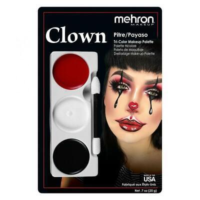 Mehron Clown  make-up set tri-colour palette halloween  horror It Circus