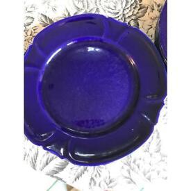 Lovely vintage Cobalt blue dinner plates
