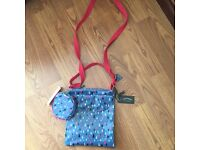 Girls Fatface over the shoulder bag with matching coun purse