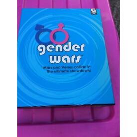 Retro gender wars card game unused