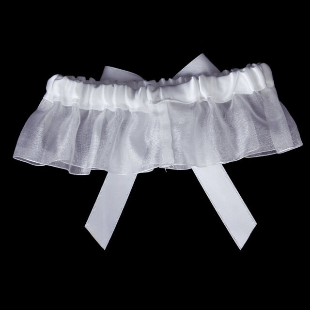 Sexy the bride chide diamond wedding garter white ball B4M7