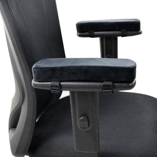Set of 2 Memory Foam Office Chair Armrest Pads Elbow Pillows