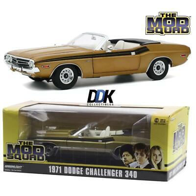 GREENLIGHT 13566 The Mod Squad 1971 Dodge Challenger 340 Convertible 1:18 - Gold