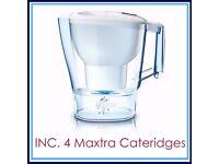 NEW BRITA Aluna XL (3.5l Capacity) Water filter Jug with 4 MAXTRA Cartridges POST or COLLECT