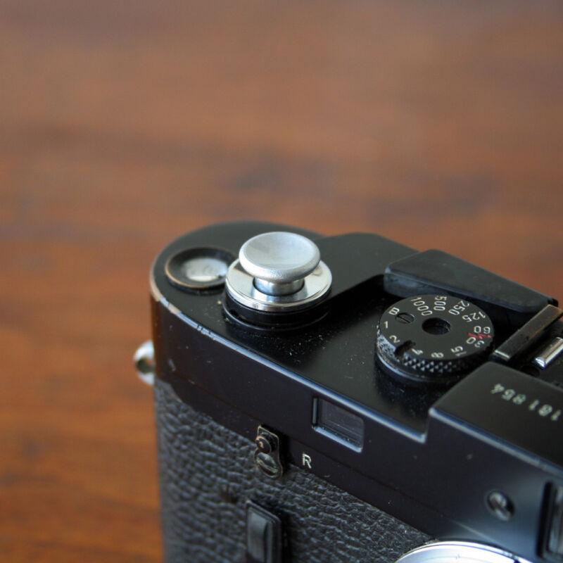 Silver Medium Concave Soft Release Button for Leica M3 MP M8 M9 X100 Nikon Canon