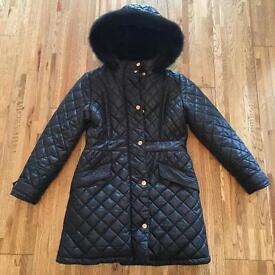 Black ted baker coat excellent condition