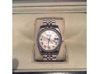 Rolex Datejust pearlesant silver watch