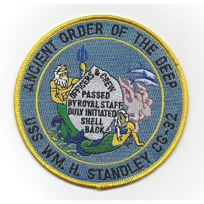USS WILLIAM H. STANDLEY CG-32 Cruiser Ship Military Patch SHELLBACK