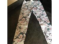 Girls H&M butterfly Print leggings new with tag