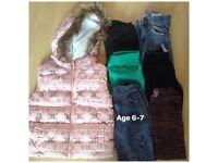 Girls clothing age 6-7 years