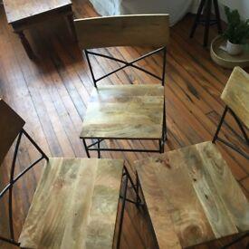 Swoon Greene dining chairs, mango wood/iron (set of 6)