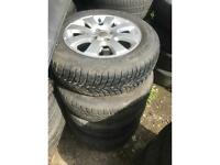 VAUXHALL ASTRA ZAFIRA B ALLOY WHEELS TYRES RIMS SET OF FOUR R15