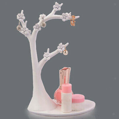 Bird And Twig Jewelry Tree Stand For Hanging Rings Pendants Blackwhite