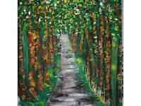 Park Acrylic Original Painting