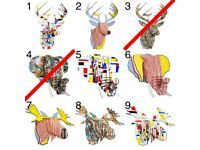 Cardboard Animal Bust - Elephant, Stag, Moose - New!