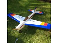 Two radio control aircraft