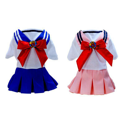 Dog Cat Dog Uniform Style Dress Party Costume Outfit Small Dog Sailor Dress