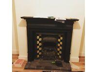 Decorative Cast Iron Fireplace - For Sale