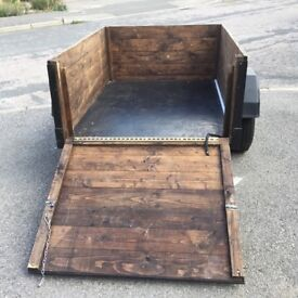 As new Wooden box trailer