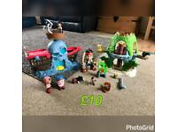 Disney Jake and the neverland pirates plays sets!
