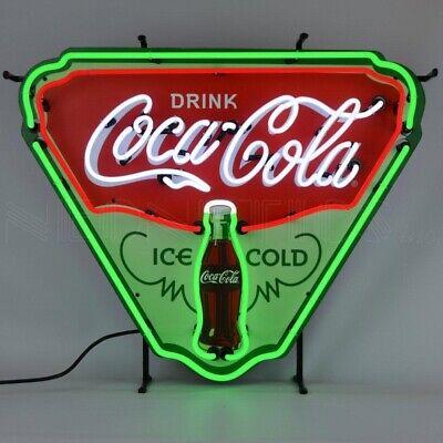 """Drink 'Coca Cola' Ice Cold Shield Neon Sign 29""""x24"""" 5CCICE"""