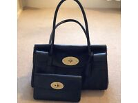 Genuine Mulberry East West Bayswater Handbag and Mulberry Long Locked Purse in excellent condition.