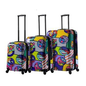 Mia Toro Italy Emojis Hard Side Spinner Luggage 3pc Set, Multi