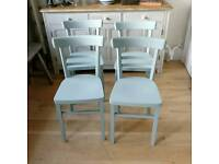 4 1950s bentwood kitchen chairs, dining chairs, bistro, cafe