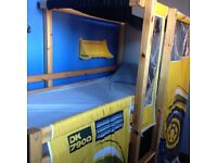 Tractor cabin bed.