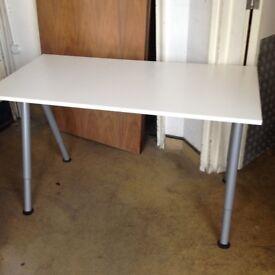 3 x IKEA white office desks