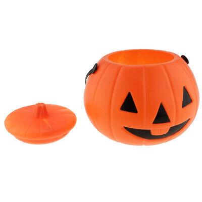 Kunststoffeimer Halloween Eimer Kürbis Eimer Süßigkeiten Korb für Trick (Kunststoff Kürbis Eimer)