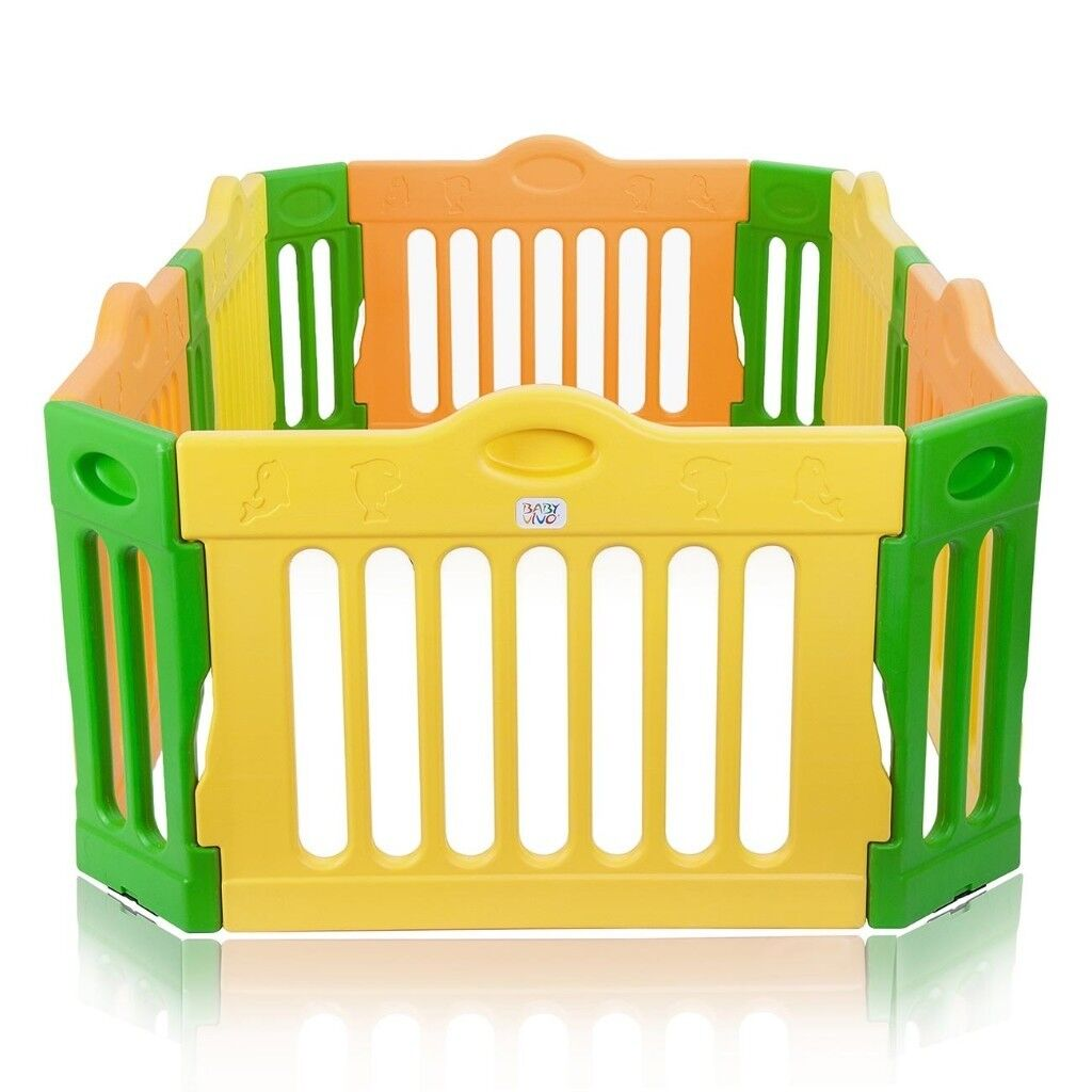 Baby Vivo Baby Playpen 4 Side Expandable Plastic Room Divider Play