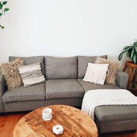 Grey Corner Sofa (almost new)