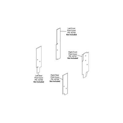 Compatible With John Deere 30 Series 4wd Corner Post Kit 8430 8630