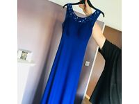 Royal Blue Evening Dress, Stretchy Material cocktail dress size 6/8 and small 10