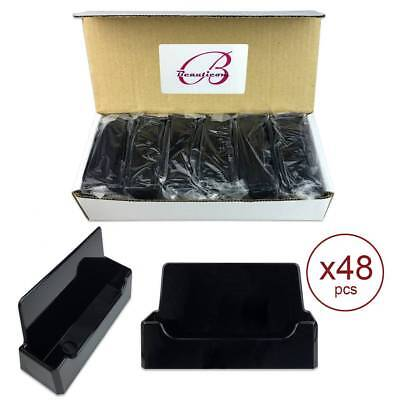 48pcs Black Acrylic Compartment Desktop Business Card Holder Display Stand