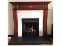 Fire Surround, Marble Insert and Black Slate Hearth
