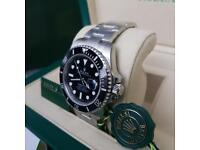 Rolex Sub 🐳 Silver Black Face - Complete Set Box And Papers 1 Year Free Warranty.