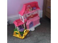 Fisher price interactive dolls house