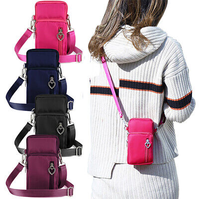 Wallet Purse With Strap (US STOCK Mini Cross-Body Cell Phone Shoulder Strap Wallet Pouch Bag Purse)