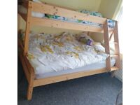 Solid wood double bed frame only