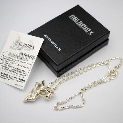 Final Fantasy X SQUARE ENIX Official Sterling Silver Necklace Tidus Pendant