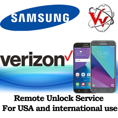 Samsung Galaxy J7 & J3, S7 Verizon Remote Unlock Service J727V J327V G930V G935V